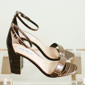 Steve Madden Women Declair Heeled Sandals Brown 7